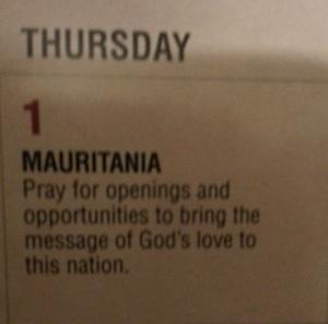 Voice of the Martyrs Prayer Calendar